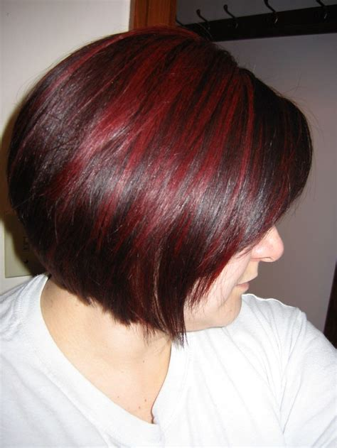 pictures of sapphire black hair with red highlights dark auburn hair with cherry red highlights really like
