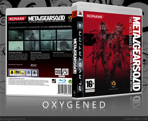 metal gear solid  twin snakes playstation  box art