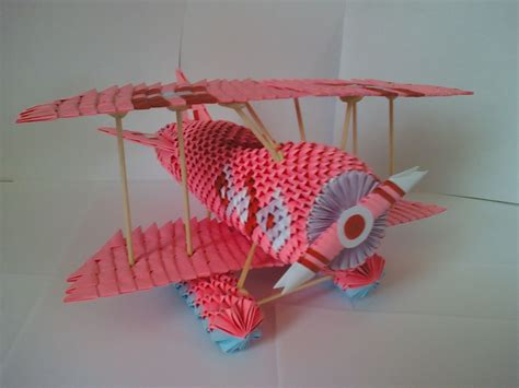 3d Origami Airplane - 3d origami pieces 3d puzzle image