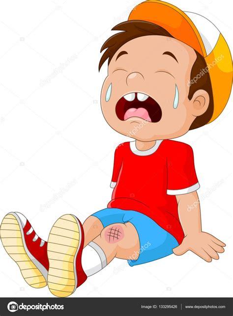 imagenes llorando en caricatura dibujos animados a ni 241 o llorando con la pierna herida