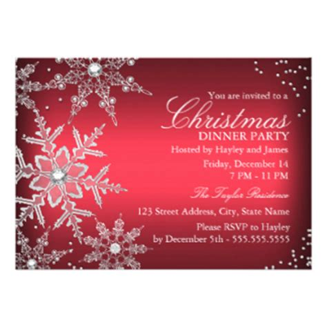 printable christmas dinner invitations christmas party invitations zazzle