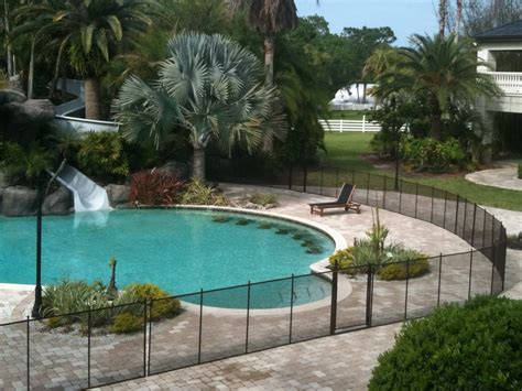 pool fence installation pool safety fence installation outdoor decorations