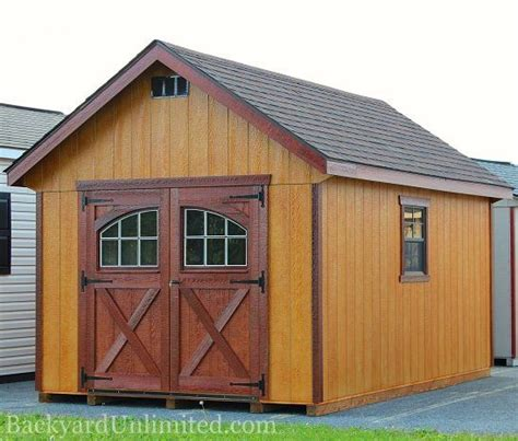 Shed Window Trim by 10 X18 Garden Shed With Rustic Cedar And Mahogany Stain