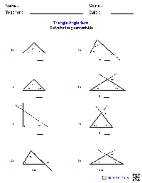 Triangle Angle Sum Worksheet by Parallel Lines And Transversals Problems Parallel Free