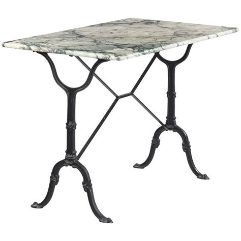 vintage marble top iron base bistro table 1970s at 1stdibs