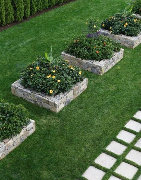Flower Bed Stones by Build Your Own Planter Box Woodworking Projects