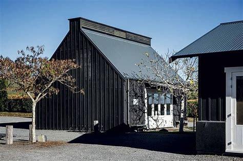 black batten  board buildings  dotted