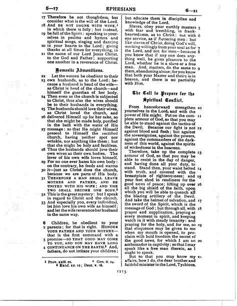 Ephesians - Ferrar Fenton Bible Translation page 1215
