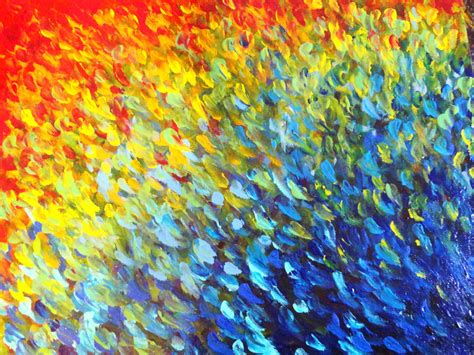 sale original abstract acrylic painting colour splash water