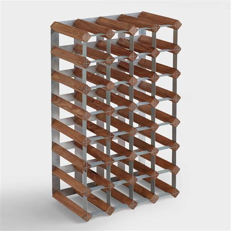 Metal Wood Rack wood metal industrial wine rack world market