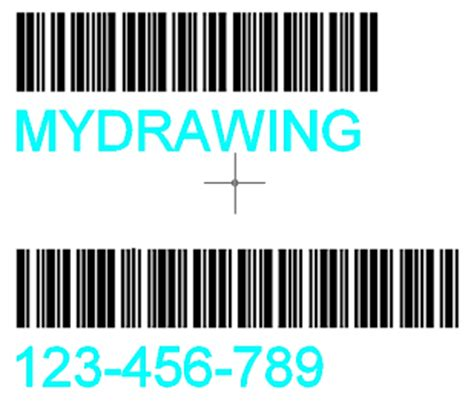 cad forum automatic drawing labels with barcodes