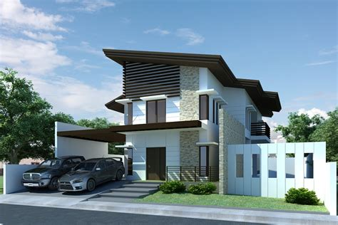 modern 2 storey house designs type modern house plan