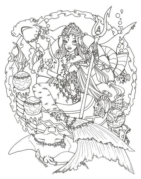 hard coloring pages of mermaids hard mermaid coloring pages pictures to pin on pinterest