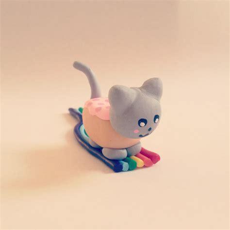 Meme Figurines - items similar to nyan pop tart cat rainbow figurine cute