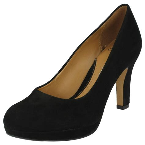 clarks anika kendra high heel softwear court shoes