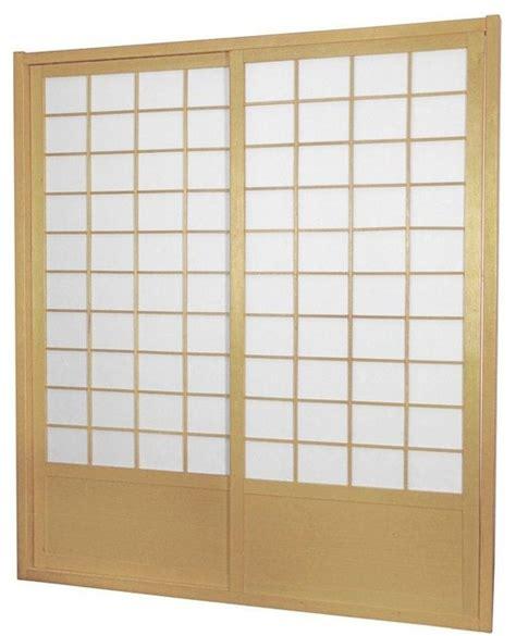7 Foot Interior Doors 7 Ft Zen Shoji Sliding Door Kit Traditional Interior Doors By