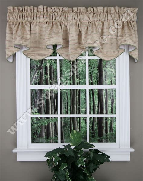 Tyler Lined Valance With Cording Crystal Stylemaster