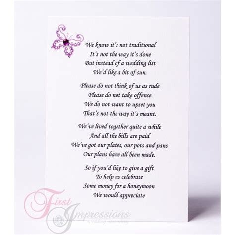 Wedding Invitation Card Poems by Wedding Invitation Wording Money Instead Of Gifts