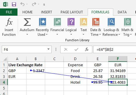 currency converter own rate make your own ms excel live currency converter