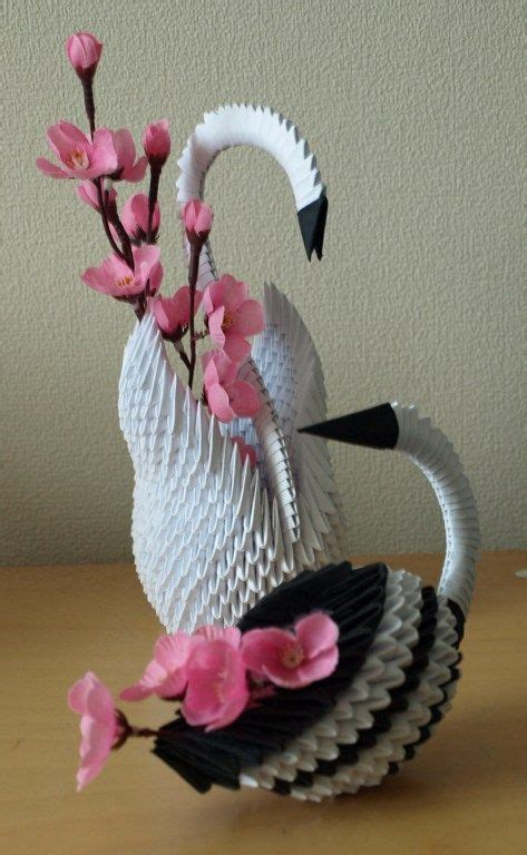 3d Origami Swan Boat - origami swan birds and origami on