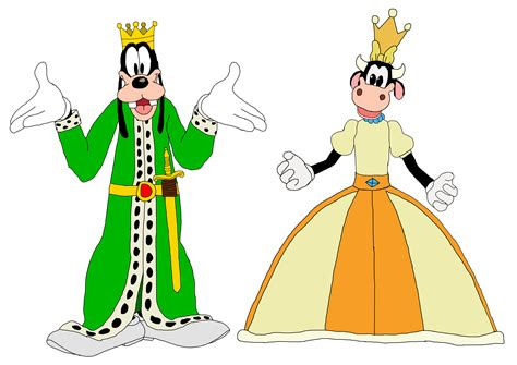disney images king goofy and queen clarabelle cow mickey