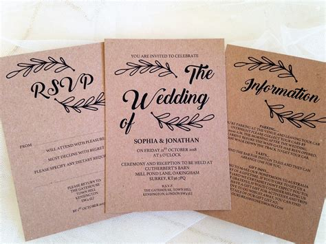 Make Your Own Wedding Invitations by Make Your Own Wedding Invitations Chain Invites