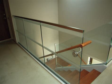 glass banisters for stairs glass stair rail with glass mount railing hardware ot glass