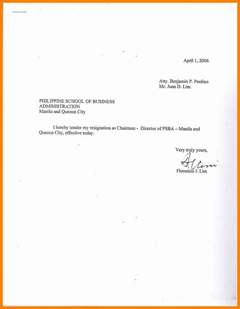 simple letter resignation samples templatedosecom