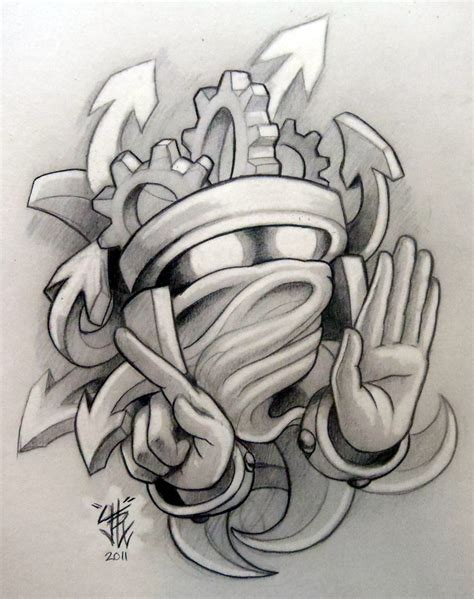 ghosty gearhead by sirius tattoo on deviantart