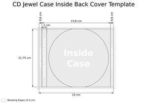 Cd Dimensions Template by Cooper Cd Cover Template