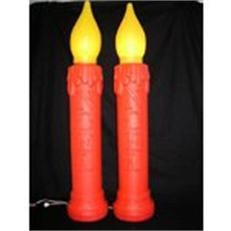 vintage 2 plastic outdoor christmas light candle set 12