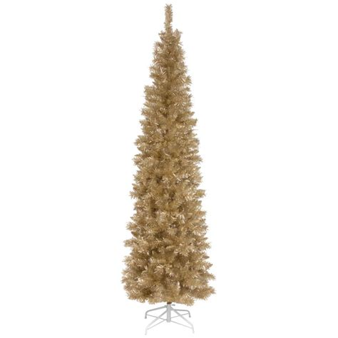 national tree company 6 ft chagne tinsel artificial