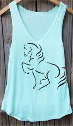 M05252 Tank Top Motif Flowy horseloversgifts motif gifts jewelry