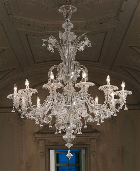 large clear rezzonico murano chandelier lk