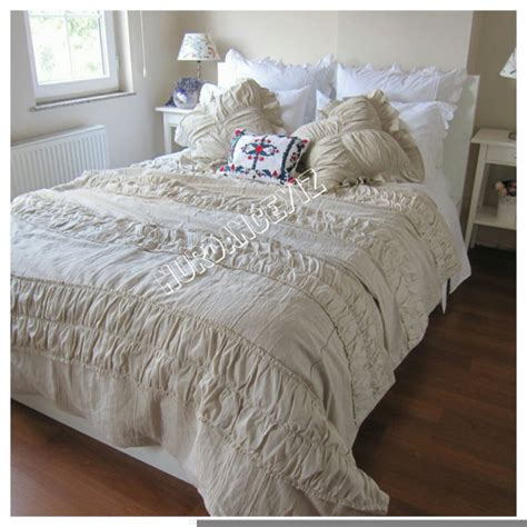 Cottage Chic Bedding by Ruched Bedding Shabby Cottage Chic Duvet Cover