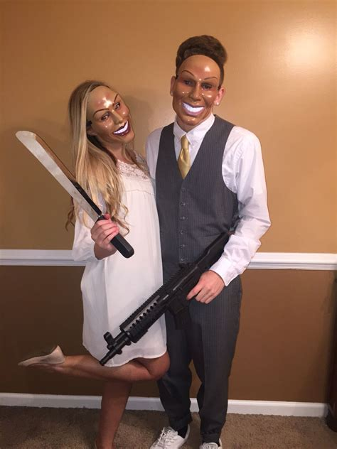purge couple costume  cosplay halloween