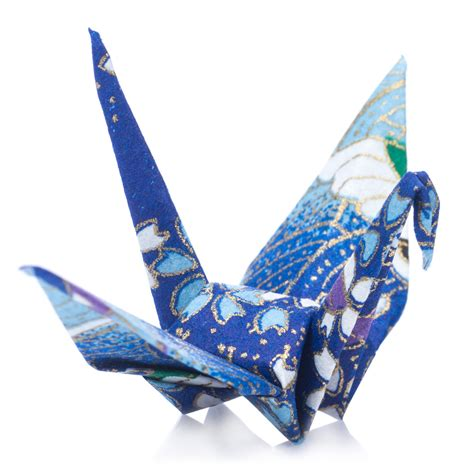Origami Paper Japan - pack 10 blue japanese origami crane birds