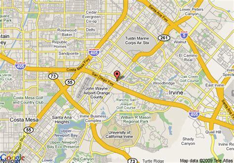 california map irvine ca map of hyatt regency irvine irvine