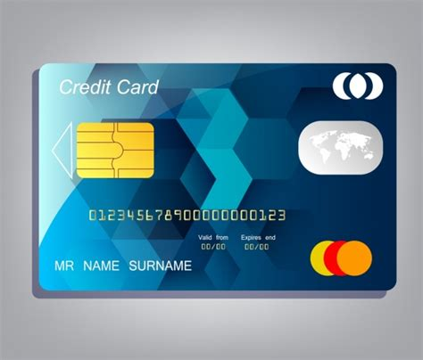 credit card label template credit card template realistic design low poly background