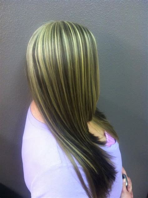 Underlay Hairstyles | blonde highlights with dark underlay and haircut my