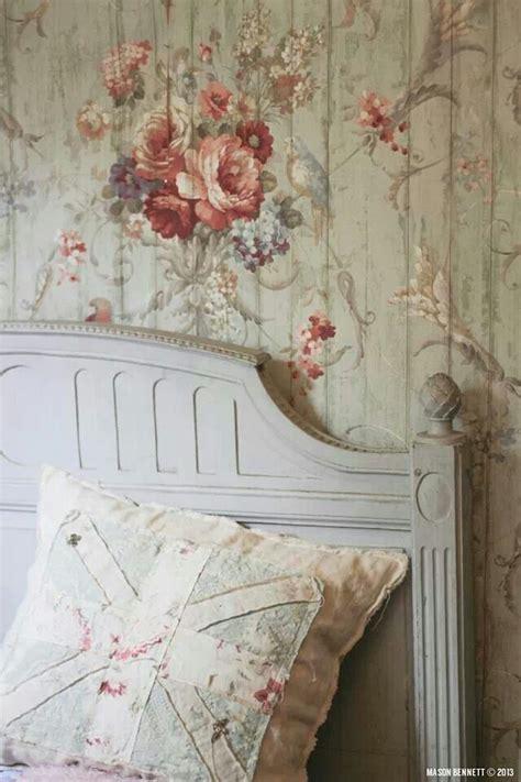 vintage french wallpaper shabby chic pinterest