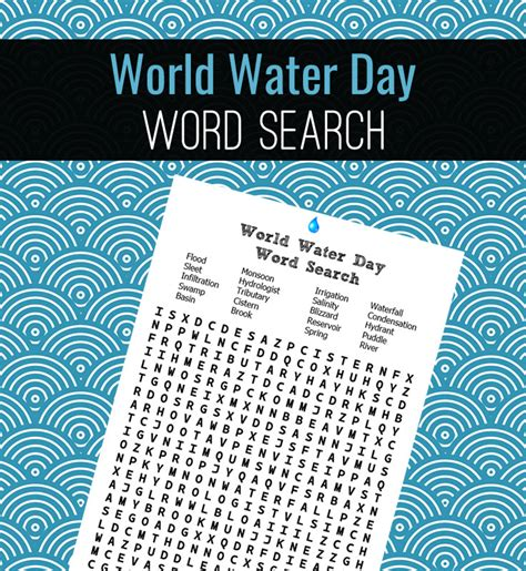 World Search World Water Day Word Search