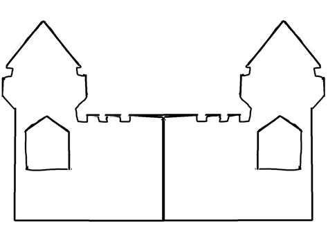 castle drawing template castle outline cliparts co