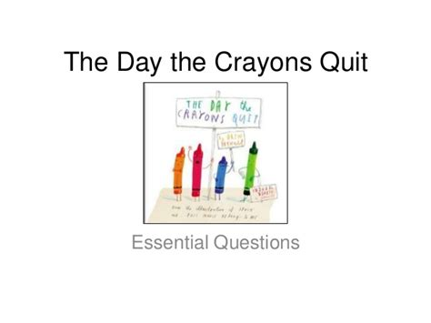 the day the crayons the day the crayons quit revised