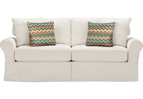 replacement slipcovers for cindy crawford sofa cindy crawford home sunny isles natural sofa sofas white