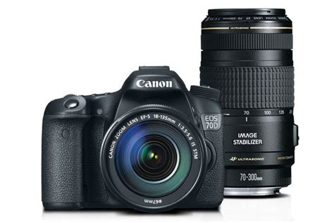 Kamera Canon Eos 70d Kit 18 135mm canon eos 70d ef s 18 135mm is stm kit with ef 70 300mm f