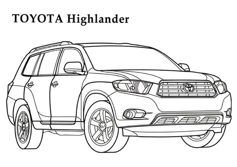 Coloring Pages Toyota Cars | toyota coloring pages 5 toyota kids printables