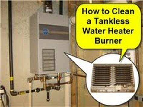 Water Heater Cleaning How To Clean A Tankless Water Heater Burner Part 1