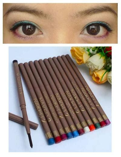 Mac Pensil Eyeliner Pencil Crayon Putar Warna Hitam Coklat Putih hal 1 blessfortuneshop
