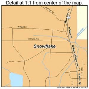 snowflake arizona map 0467800